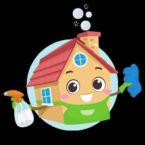 ikona dom s cistiacimi prostriedkami
